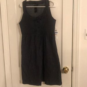 CK jeans denim dress with front detail XL NWT